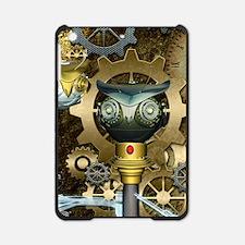 Steampunk, awesome dark mechanical owl iPad Mini C