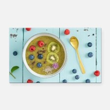 Kiwi smoothie bowl Rectangle Car Magnet