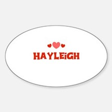 Hayleigh Oval Decal
