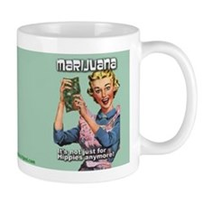 #0082 Marijuana Not Just For Hippies Anymore Small Mugs