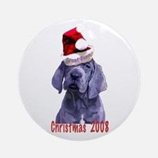 Great Dane Christmas Puppy Ornament (Round)
