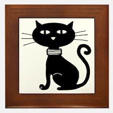Cool Cat design Framed Tile