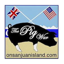 Pig War Tile Coaster