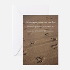 footprints_card.jpg Greeting Cards