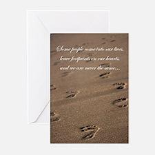 footprints_card.jpg Greeting Cards