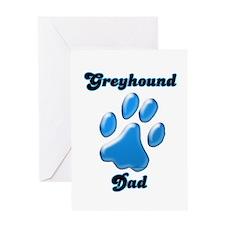 Greyhound Dad3 Greeting Card