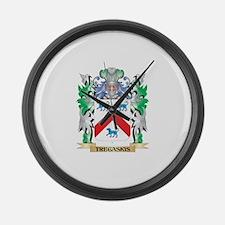 Tregaskis Coat of Arms - Family C Large Wall Clock