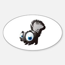 Cool Black squirrel Sticker (Oval)