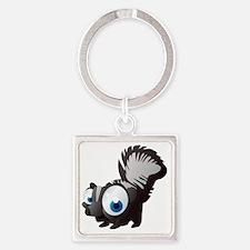 Unique Black squirrel Square Keychain