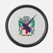 Treminell Coat of Arms - Family C Large Wall Clock
