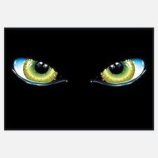 Cute Cat eyes Wall Art