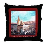 San Diego Souvenir Throw Pillow