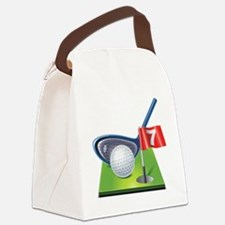 Cute Golf Canvas Lunch Bag