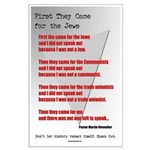 Pastor Niemoller Quote Large Poster