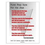 Pastor Niemoller Quote Small Poster