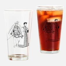 Funny Renaissance Drinking Glass