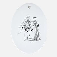 Unique Renaissance Oval Ornament