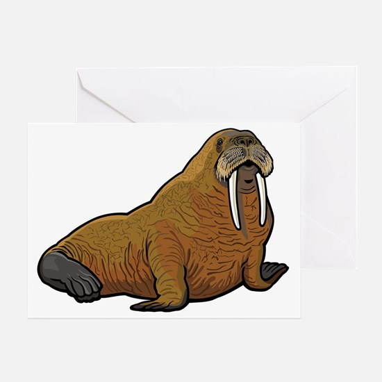 Cute Walruses Greeting Card