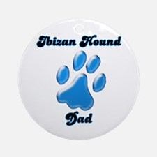 Ibizan Dad3 Ornament (Round)