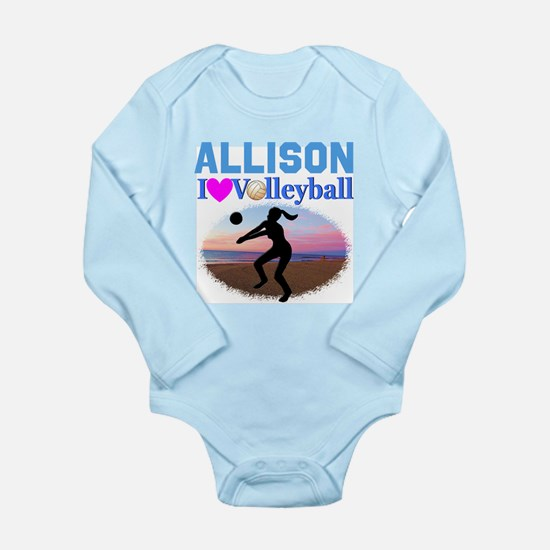 VOLLEYBALL STAR Long Sleeve Infant Bodysuit