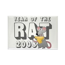 Funny 2008 Year Rat Rectangle Magnet