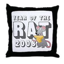 Funny 2008 Year Rat Throw Pillow
