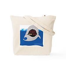Afraid of the Shark? Riddle Tote Bag