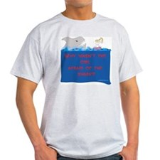 Afraid of the Shark? Riddle Ash Grey T-Shirt
