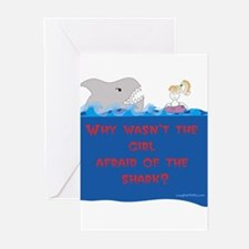 Afraid of the Shark? Riddle Greeting Cards (Packag