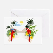Unique Macaw Greeting Card