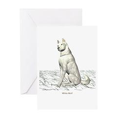 White Wolf Greeting Card