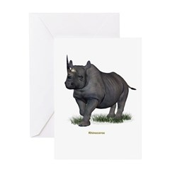 Rhinocerous Greeting Card