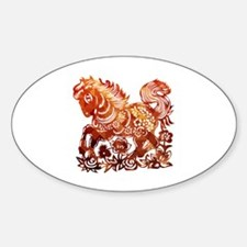 Funny Year of the horse Sticker (Oval)