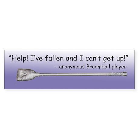 Broomball Fall Bumper Sticker