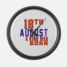 18 August A Star Was Born Large Wall Clock