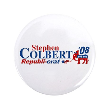 """::: Colbert - RepubliCrat ::: 3.5"""" Button"""