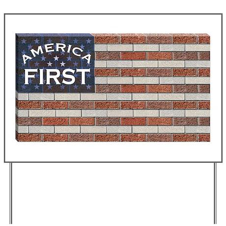 Trump Brick Wall Flag Yard Sign By Thatsfunnyhoney