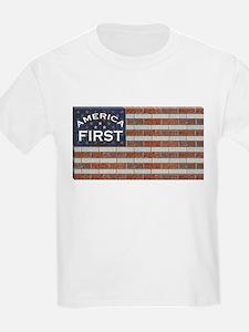 Trump Brick Wall Flag T-Shirt