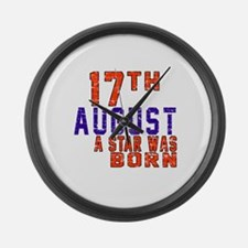 17 August A Star Was Born Large Wall Clock