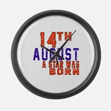 14 August A Star Was Born Large Wall Clock