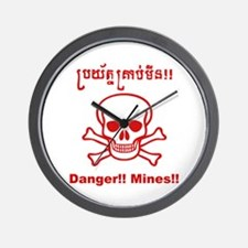 Danger! Mines! Wall Clock