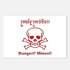 Danger! Mines! Postcards (Package of 8)