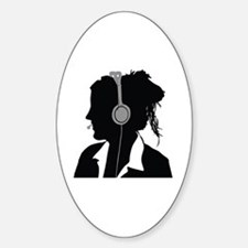 Cool Center Sticker (Oval)