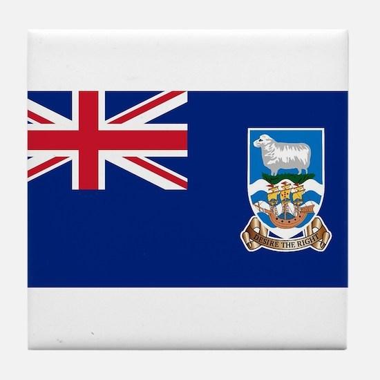 Falkland Islands Flag Tile Coaster