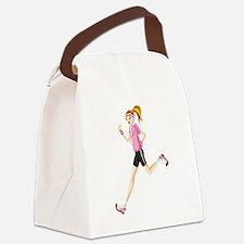 Cute Running Canvas Lunch Bag