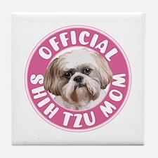Shih Tzu Mom -  Tile Coaster