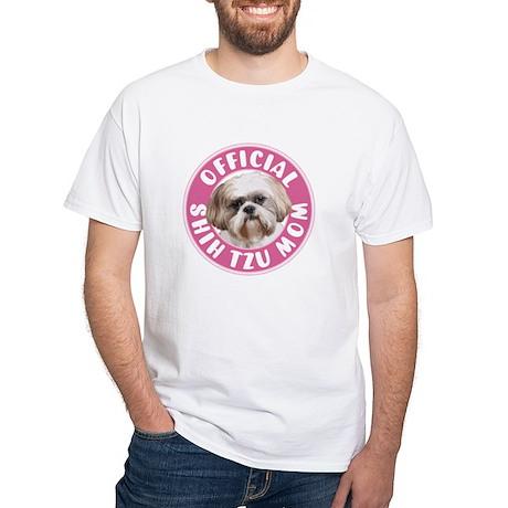 Shih Tzu Mom - White T-Shirt