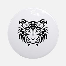 Funny Tiger Round Ornament
