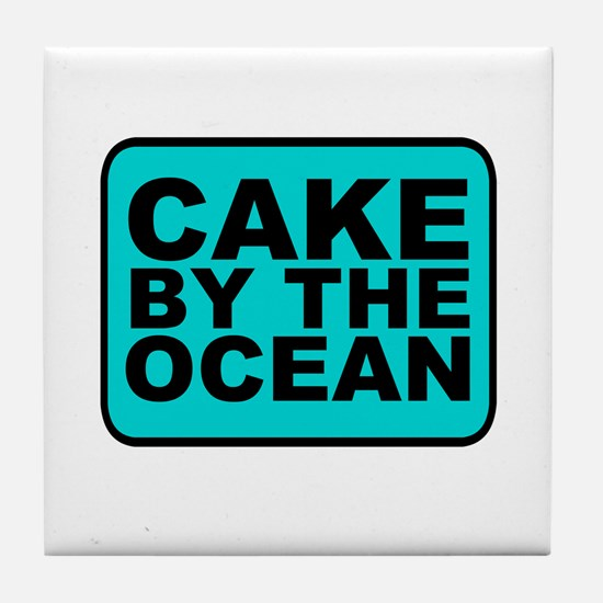 Cake By the Ocean Tile Coaster