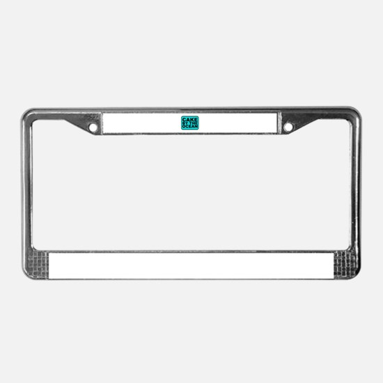 Cake By the Ocean License Plate Frame